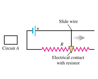Solved: The Slide Wire Of The Variable Resistor In The Fig ...